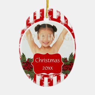 Christmas photo PERSONALIZE Ceramic Ornament