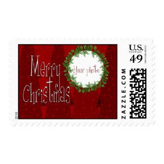 Christmas Photo Postage Stamp