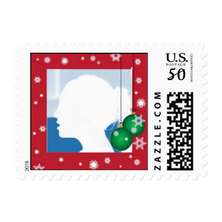 Christmas Photo Postage Stamps