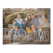 Christmas Photo Postcard, full photo, snow Postcard