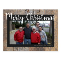 Christmas Photo Postcard Template to Customize