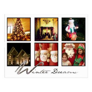 christmas photo sharing network postcard