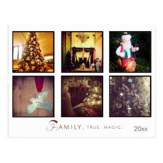 christmas photo social networks postcard