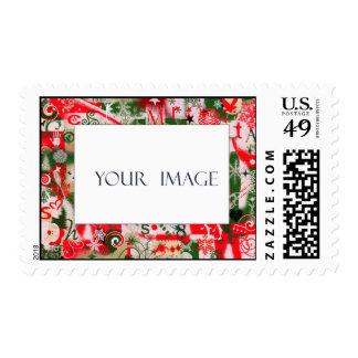 Christmas photo stamp template