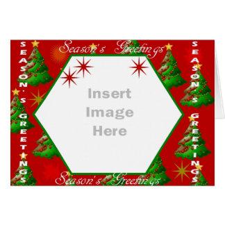Christmas photo template card