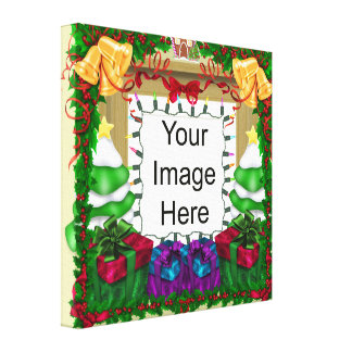 Christmas Photo Template Wrapped Canvas Stretched Canvas Prints