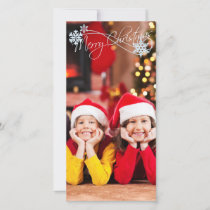 Christmas PhotoCard Add your photo Holiday Card