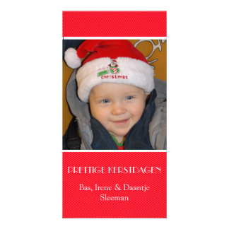 Christmas photograph card red edge