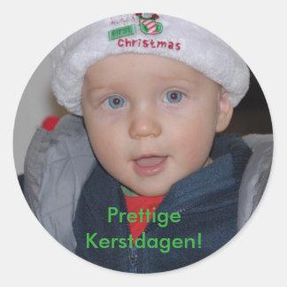 Christmas photograph sticker