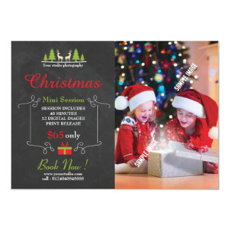 Christmas Photography Mini Session Card