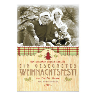 Christmas photomap greeting map card