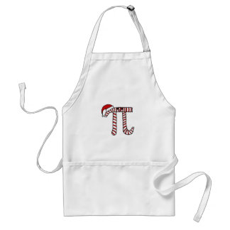 Christmas Pi Cartoon Character (Red) Adult Apron