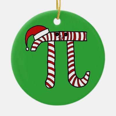 Christmas Pi Math Ornament | Zazzle.com