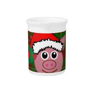 christmas pig beverage pitcher