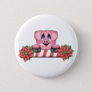 Christmas Pig Button