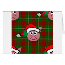 christmas pig card