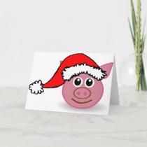 christmas pig holiday card