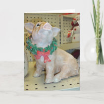 Christmas Pig Holiday Card