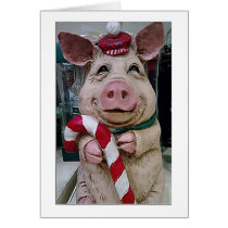 "CHRISTMAS PIG HUSBAND-LOVE YOU/LAUGHING WITH ""YOU"" CARD"