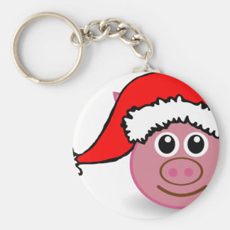christmas pig keychain