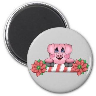 Christmas Pig Magnet