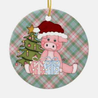 Christmas Pig Ornament