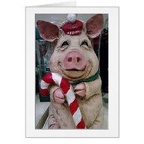***CHRISTMAS PIG TO MY WIFE***-LOVE YOU CARD