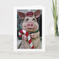 ***CHRISTMAS PIG TO MY WIFE***-LOVE YOU HOLIDAY CARD