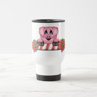 Christmas Pig Travel Mug