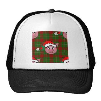 christmas pig trucker hat