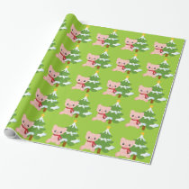 Christmas Pig Wrapping Paper
