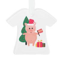 Christmas, pig year ornament