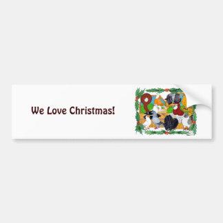 Christmas Pigeons Bumper Sticker