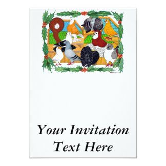 Christmas Pigeons Card