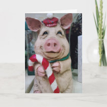 CHRISTMAS PIGGY HOLIDAY WISHES
