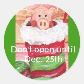 Christmas Piggy  Stocklng Sticker