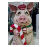 CHRISTMAS PIGGY WISHES GREETING CARD