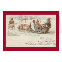 Christmas pigs card