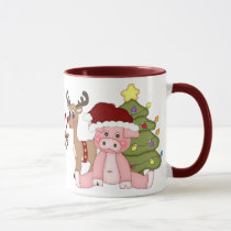 Christmas Pigs coffee mug