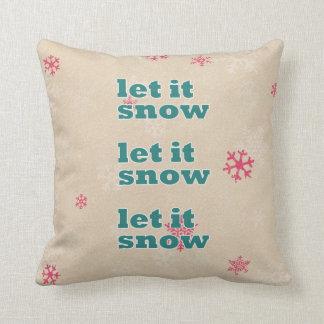 Christmas pillow- let it snow