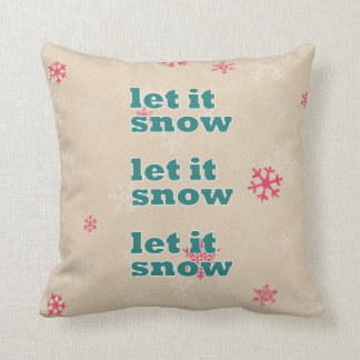 Christmas pillow- let it snow pillows