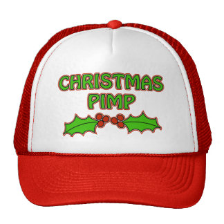 Christmas Pimp - Holly Mesh Hat