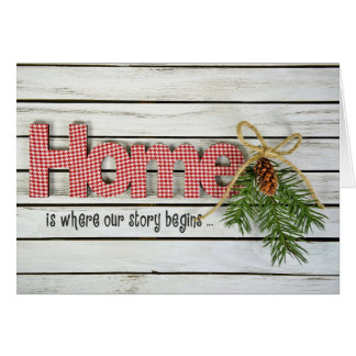 Christmas pine and Home quote Card