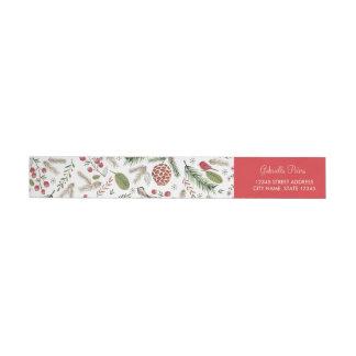 Christmas Pine Birds | Return Address Labels