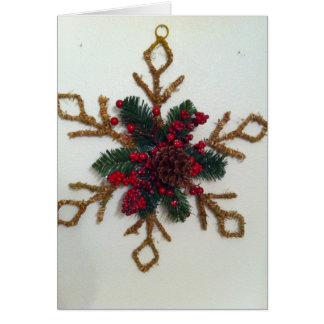 Christmas Pine Cone Decoration Greeting Card