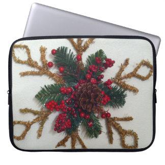 Christmas Pine Cone Decoration Laptop Sleeve
