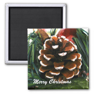Christmas Pine Cone Magnet