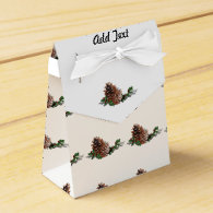 Christmas Pine Cones Favor Box