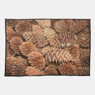 Christmas Pine Cones Hand Towel