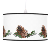 Christmas Pine Cones Pendant Lamps